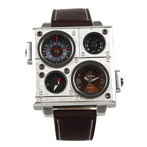 Oulm Square Military Wristwatch