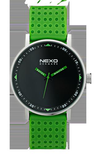 Nexo Denmark Black S - Green watch